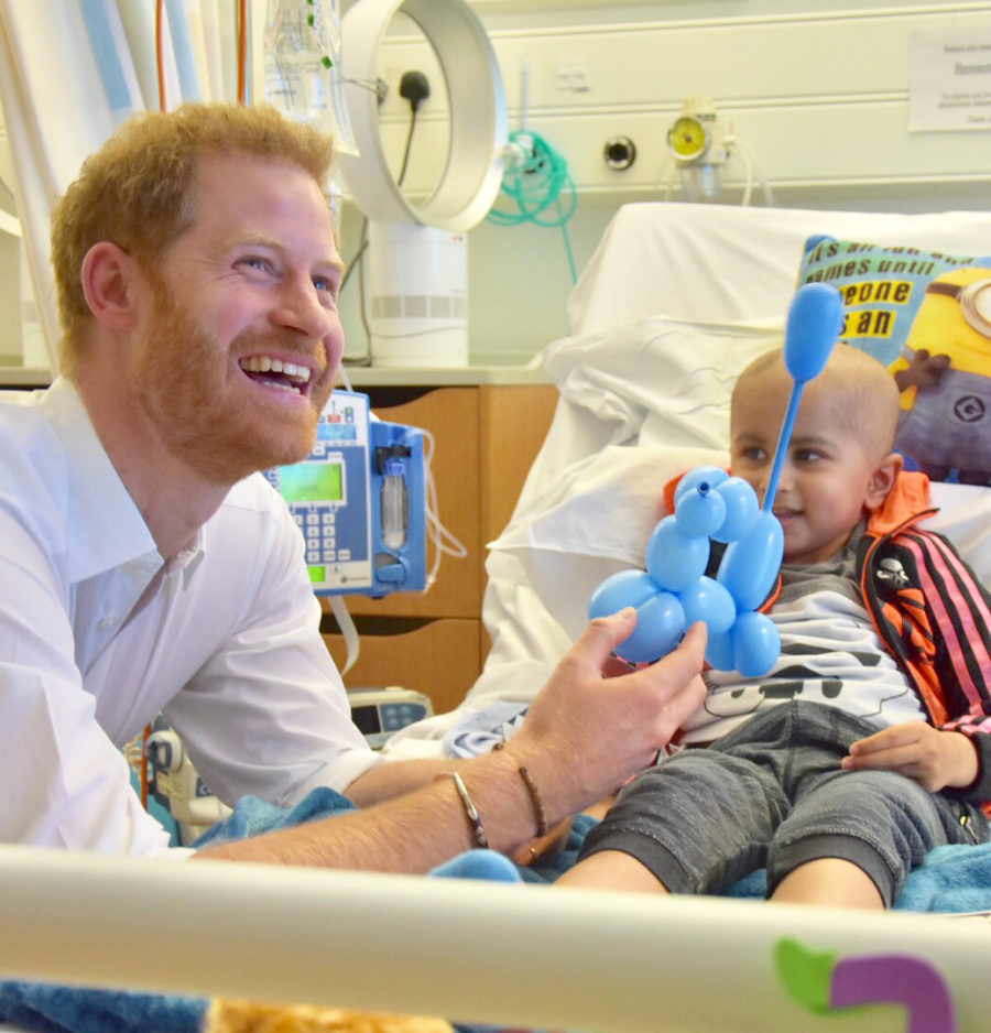 Duke of Sussex visits a child in hospital