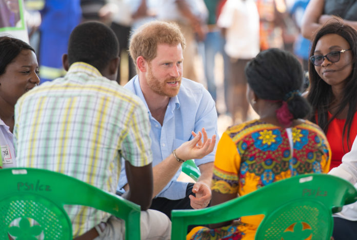 In Malawi, The Duke of Sussex meets with young people at a health clinic to discuss stigma surrounding HIV and other barriers