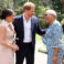 The Duke and Duchess of Sussex meet Graca Machel, widow of the late Nelson Mandela, on the last day of their tour in Africa. All smiles during this important moment for the royal couple.
