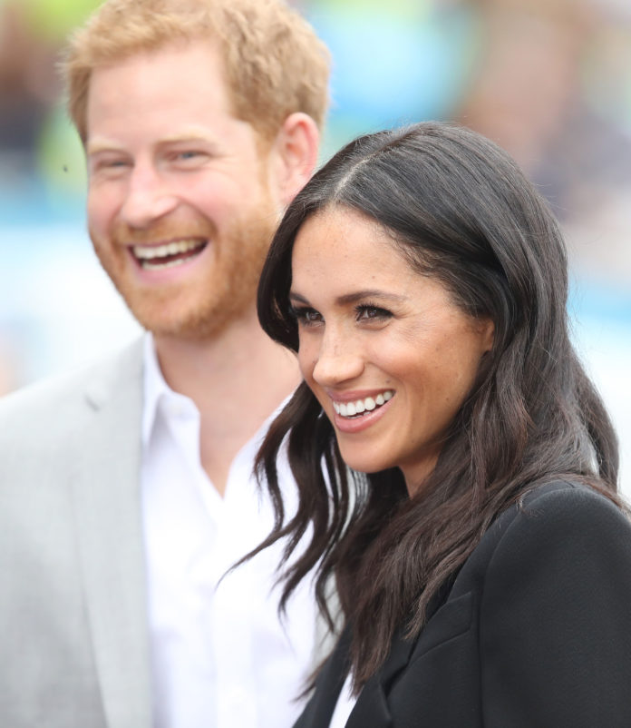 Duke and Duchess of Sussex in Dublin smiling during their Official Tour